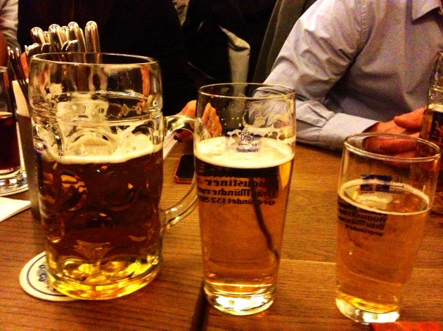 The 3 beers (at Stiftskeller)