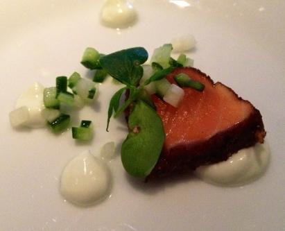 Salmon amuse-bouche