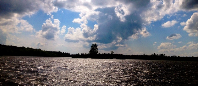 Clouds rolling in over Little Bald Lake